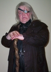 Alan Myatt as One-Eyed Moody from Harry Potter