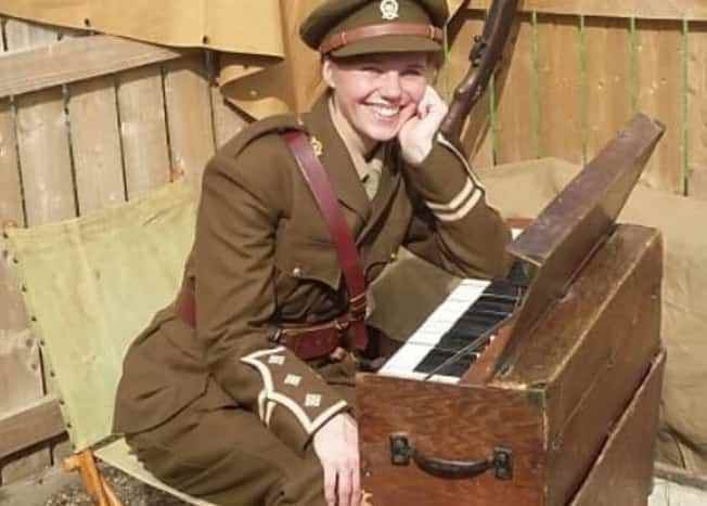 Beverley A Palin with WWI Trench Organ from Northumberland