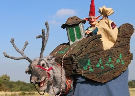 Reindeer & Elf by Creature Encounter Animatronic West Midlands