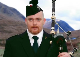 Keith McIntyre Solo Highland Piper available for hire