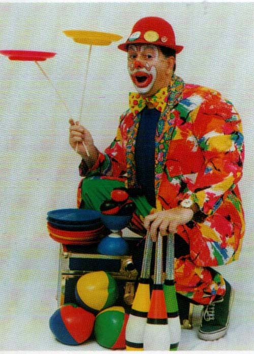 Ron Popple as Ronnie Crackers Juggler West Midlands